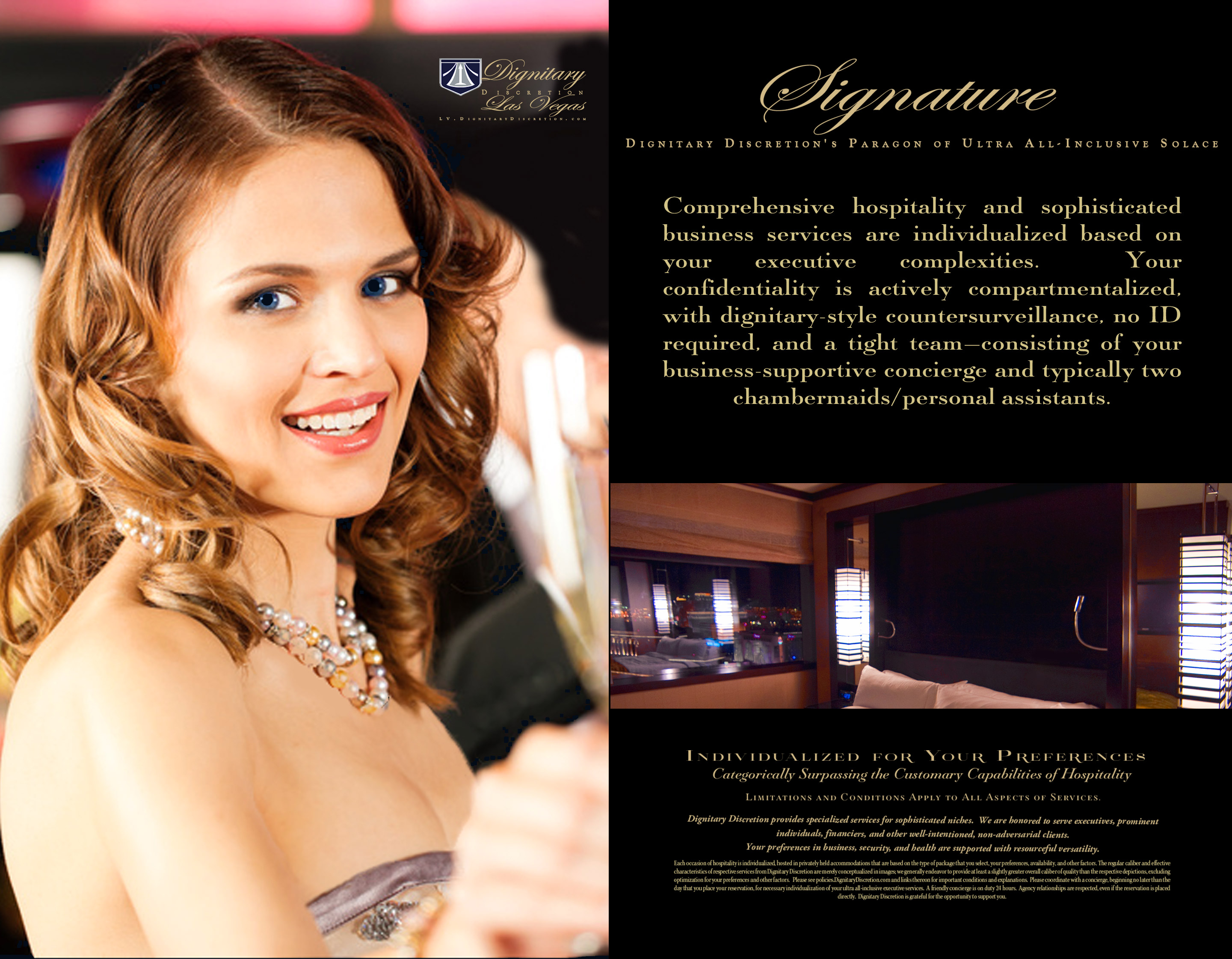 Signature Package, Dignitary Discretion Las Vegas